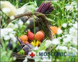 растительная диета, осень, овощи и фрукты