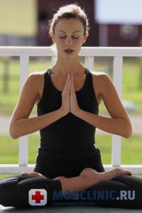 Йога снимает симптомы менопаузы